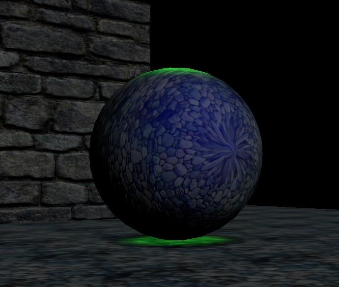 SpotLight above Sphere shines through